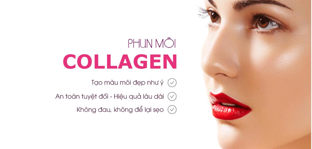 Image result for Phun môi collagen Hàn Quốc